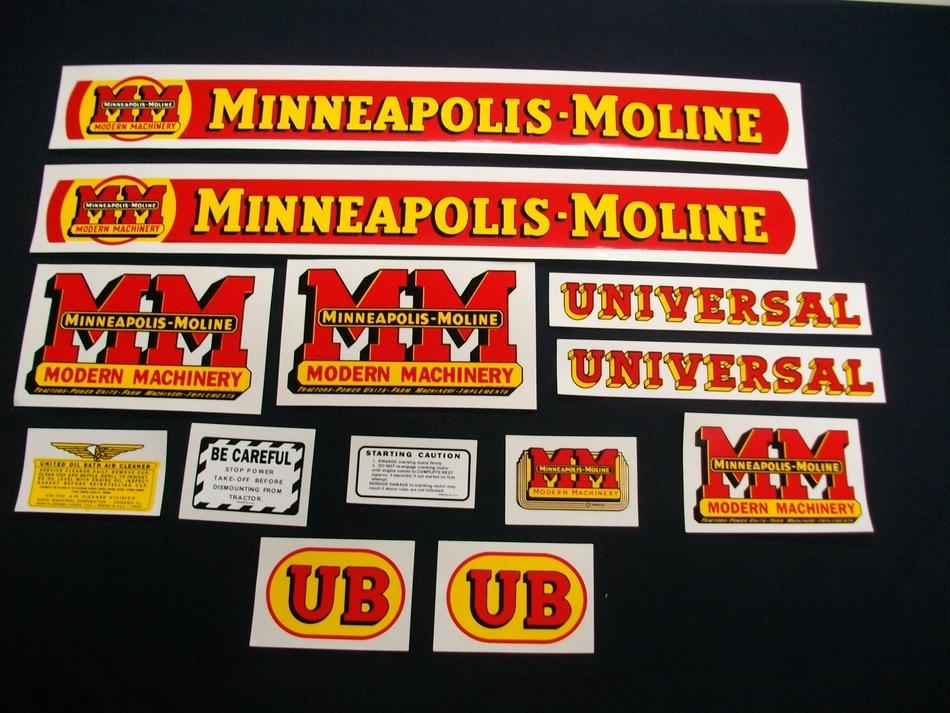 Minneapolis Moline Decals : Ub minneapolis moline